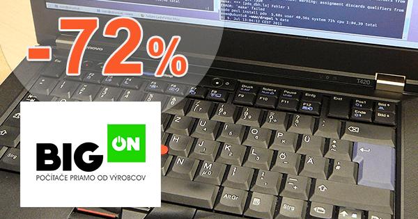 BigON.sk zľavový kód zľava -72%, kupón, akcia