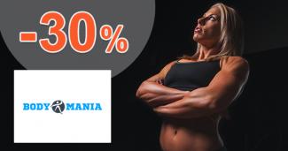 BodyMania.sk zľavový kód zľava -30%, kupón, akcia, výpredaj
