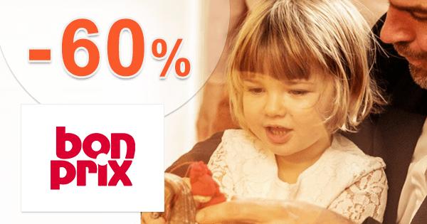 BonPrix.sk zľavový kód zľava -60%, kupón, akcia, výpredaj, akcie, zľavy pre deti