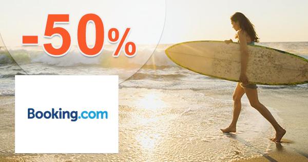 Extra zľava -50% na ubytovanie na Booking.com