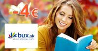 Bux.sk zľavový kód zľava -4€, kupón, akcia