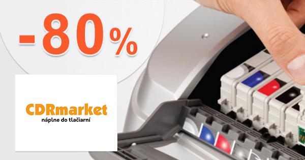 Zľavy až -80% na tonery na CDRmarket.sk, akcia, kupón, zľava, výpredaj