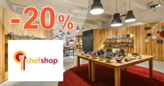 ChefShop.sk zľavový kód zľava -20%, kupón, akcia