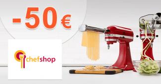ChefShop.sk zľavový kód zľava -50€, kupón, akcia