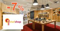 ChefShop.sk zľavový kód zľava -7%, kupón, akcia