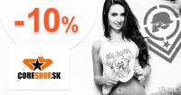 CoreShop.sk zľavový kód zľava -10%, kupón, akcia