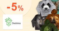Dedoles.sk zľavový kód zľava -5%, kupón, akcia