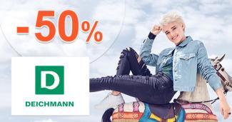 Deichmann.sk zľavový kód zľava -50%, kupón, akcia