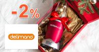 Delimano.sk zľavový kód zľava -2%, kupón, akcia