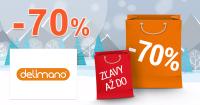 Delimano.sk zľavový kód zľava -70%, kupón, akcia, výpredaj