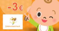 Detska-vybavicka.sk zľavový kód zľava -3€, kupón, akcia
