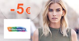 Differenta.sk zľavový kód zľava -5€, kupón, akcia