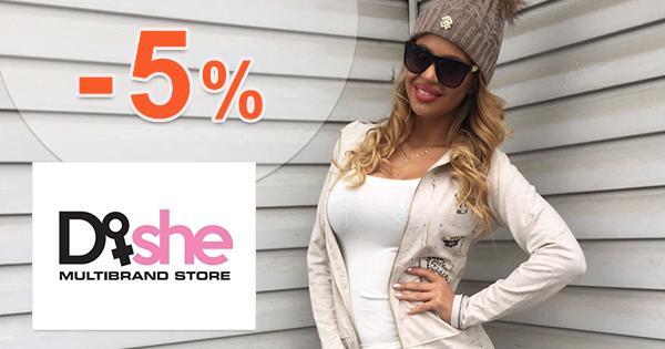 Dishe.sk zľavový kód zľava -5%, kupón, akcia