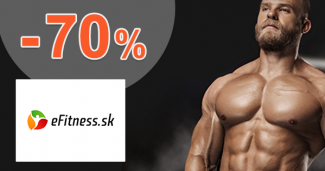 eFitness.sk zľavový kód zľava -70%, kupón, akcia
