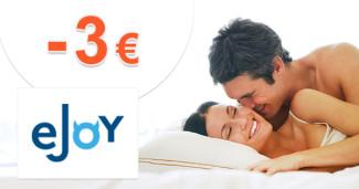 eJoy.sk zľavový kód zľava -3€, kupón, akcia