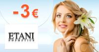 Etani.sk zľavový kód zľava -3€, kupón, akcia
