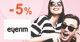 Eyerim.sk zľavový kód zľava -5%, kupón, akcia