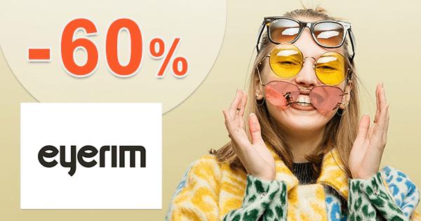 Eyerim.sk zľavový kód zľava -60%, kupón, akcia, výpredaj na slnečné okuliare