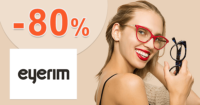 Eyerim.sk zľavový kód zľava -80%, kupón, akcia, výpredaj na dioptrické okuliare