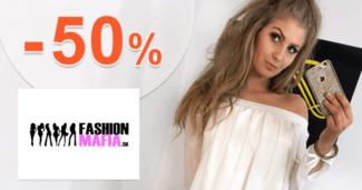 FashionMafia.sk zľavový kód zľava -50%, kupón, akcia, akcie, zľavy, výpredaj