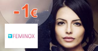 Feminox.sk zľavový kód zľava -1€, kupón, akcia