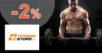 Fitness-store.sk zľavový kód zľava -2%, kupón, akcia