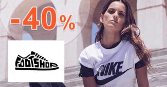 FootShop.sk zľavový kód zľava -40%, kupón, akcia, výpredaj, zľavy, doplnky