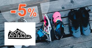 FootShop.sk zľavový kód zľava -5%, kupón, akcia