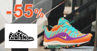 FootShop.sk zľavový kód zľava -40%, kupón, akcia, výpredaj, zľavy, top 100 tenisiek