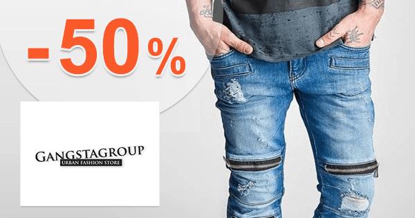 GangstaGroup.sk zľavový kód zľava -50%, kupón, akcia, výpredaj