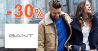 GANT.sk zľavový kód zľava -30%, kupón, akcia, výpredaj