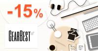 GearBest.com zľavový kód kupón na zľavu -15%