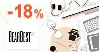GearBest.com zľavový kód kupón na zľavu -18%