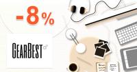 GearBest.com zľavový kód kupón na zľavu -8% na všetko
