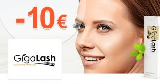 GigaLash.sk zľavový kód zľava -10€, kupón, akcia