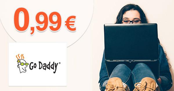 GoDaddy.com zľavový kód com domena za 0,99, kupón, akcia, zľava