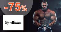 GymBeam.sk zľavový kód zľava -75%, kupón, akcia, výpredaj