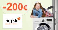 Hej.sk zľavový kód zľava -200€, kupón, akcia