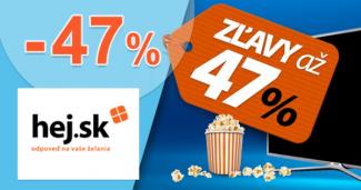 Hej.sk zľavový kód zľava -47%, kupón, akcia, na televízory