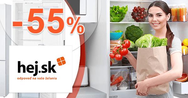 Akcie na mrazničky až -55% zľavy na Hej.sk
