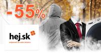 Hej.sk zľavový kód zľava -55%, kupón, akcia, zľavy, výpredaj
