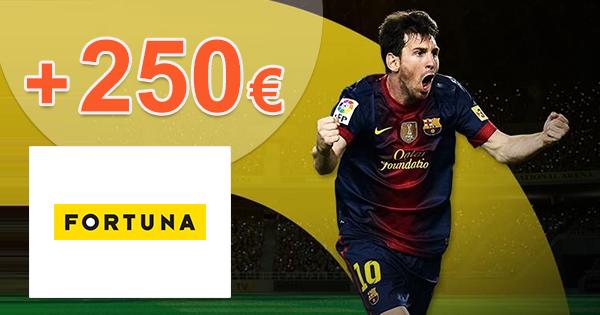 iFortuna.sk zľavový kód bonus 250€, kupón, akcia