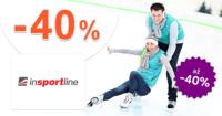inSPORTline.sk zľavový kód zľava -40%, kupón, akcia, výpredaj, zľavy na zimné korčule
