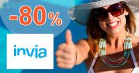 Invia.sk zľavový kód zľava -80%, kupón, akcia