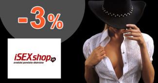 iSEXshop.sk zľavový kód zľava -3%, kupón, akcia