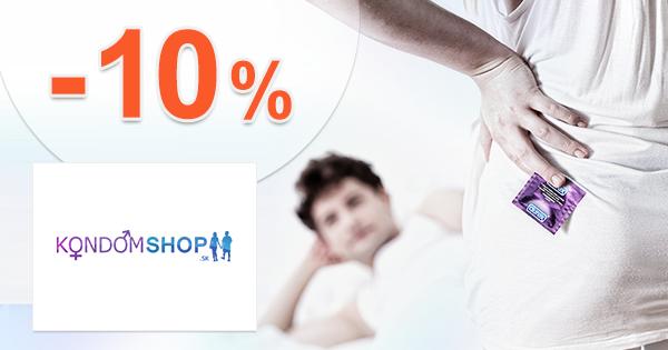 KondomShop.sk zľavový kód zľava -10%, kupón, akcia