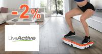 LiveActive.sk zľavový kód zľava -2%, kupón, akcia