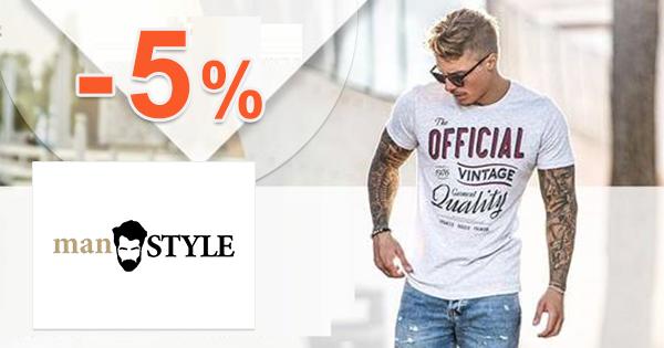 manSTYLE.sk zľavový kód zľava -5%, kupón, akcia