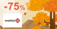 Market24.sk zľavový kód zľava -75%, kupón, akcia