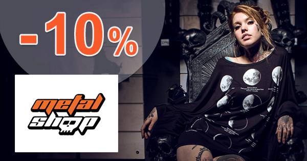 MetalShop.sk zľavový kód zľava -10%, kupón, akcia